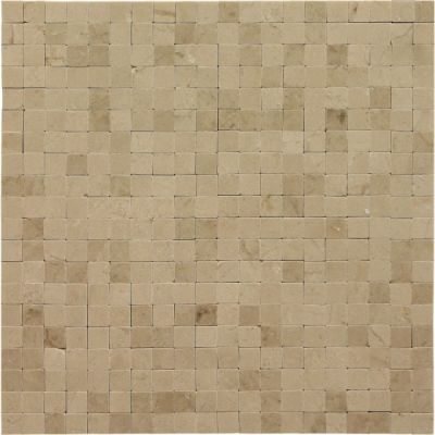 tan marble SSH-278 No Grout Crema Marfil Polished Mosaic by soci