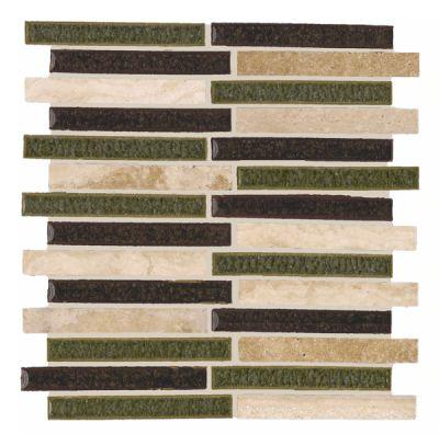 brown, gray, tan glass SSM-427 Luna Blend Glass and Travertine Allegro Pattern by soci