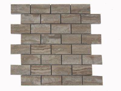 brown travertine SSP-008 Walnut Basalto Brick by soci