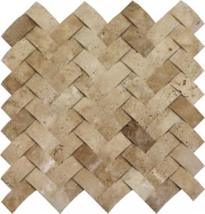 tan travertine SSV-602 Walnut Concave Herringbone by soci