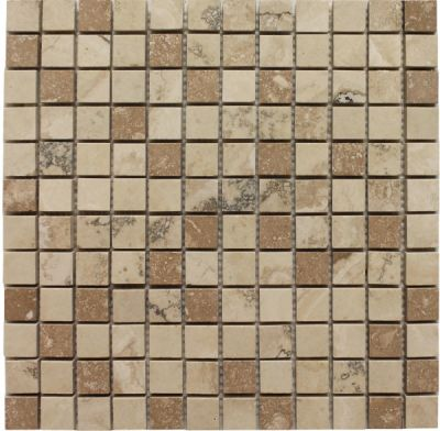 brown, tan, white travertine SSV-617 Creme Brulee Honed by soci