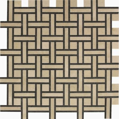 black, brown, tan marble SSW-908 Bristol Blend Normandy Pattern Polished Mosaic by soci