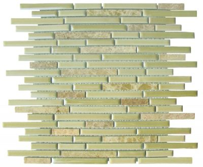 tan ceramic SSY-511 Dawson Linear Brick Ceramic Mosaic by soci