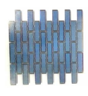 blue glass Vision Glass 1x4 EV06 Flicker Ocean Blue