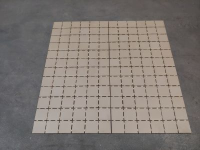 gray, orange, tan, beige porcelain 2X2 DAL KEYSTONE D166