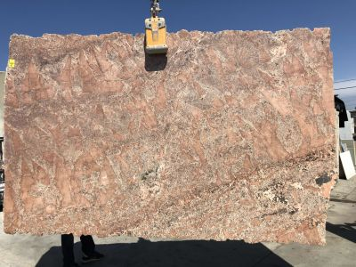 black, gray, orange, white, pink granite Salmon Granite