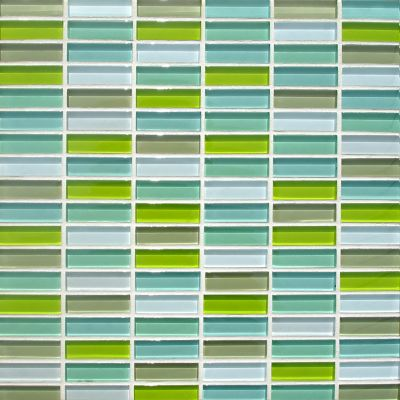 blue, gray, green, white glass Mosaic