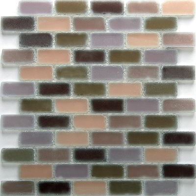 brown, gray, green, tan, white glass Mosaic