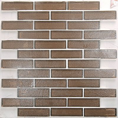 brown, gray, tan, white glass Mosaic