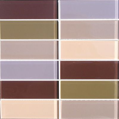 brown, gray, tan, white, pink glass Mosaic