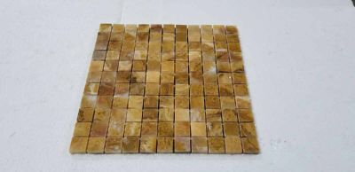 "gold onyx Giallo Onyx 1""x1"" Polished mosaic"
