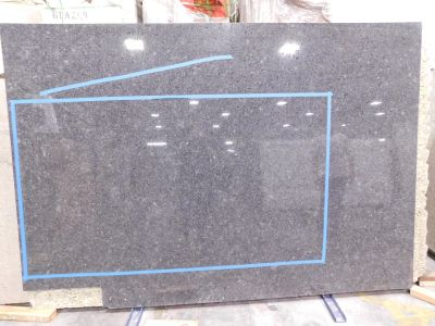 black, blue, gray granite Steel Gray