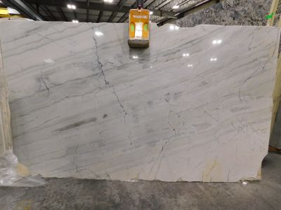 gold, gray, white marble Bianco Calcatta