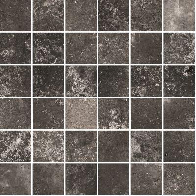 "black, gray porcelain Aurora Anthracite Mosaic 12""X12"""