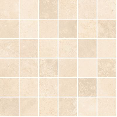 "tan, beige porcelain Aurora Light Cream Mosaic 12""X12"""