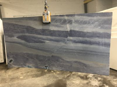 black, gray, tan marble BLUE MAKAUBA