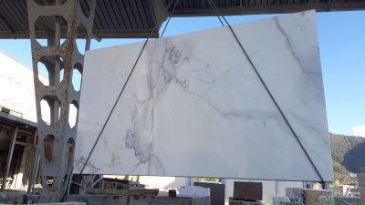 black, gray marble CALACATTA LINCOLN