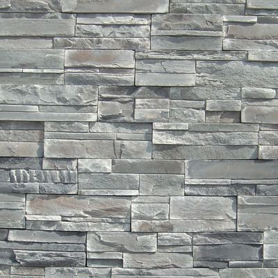 gray, white, tan, brown concrete Imperial Stack Crestone by veneerstone