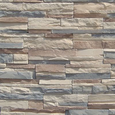 brown, gray, tan, white concrete Imperial Stack Malbeck by veneerstone