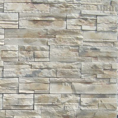 brown, gray, tan, white concrete Imperial Stack Mesa Gray by veneerstone