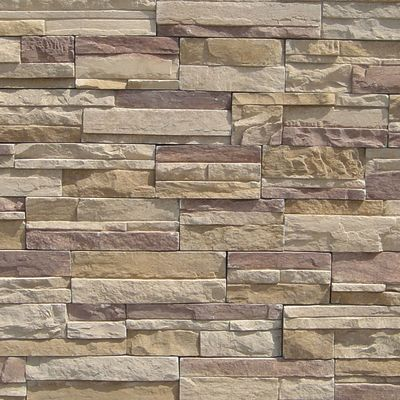 brown, gray, tan, white concrete Imperial Stack Millsap by veneerstone