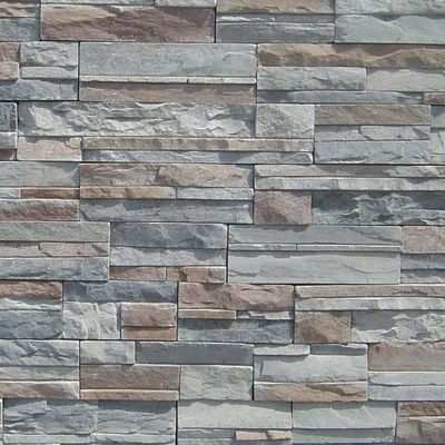 brown, gray, tan, white concrete Imperial Stack Silver by veneerstone
