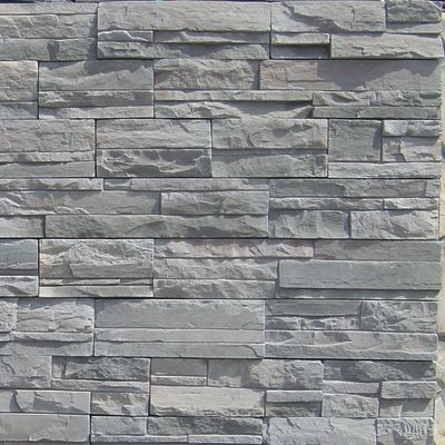gray concrete Imperial Stack Slate by veneerstone