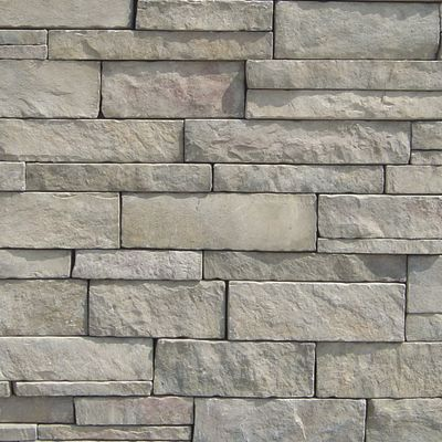 gray, tan, white, beige concrete Stack Stone Creede by veneerstone