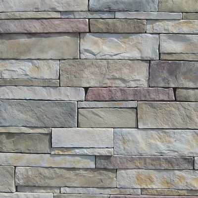 brown, gray, tan, white concrete Stack Stone Mineral County by veneerstone
