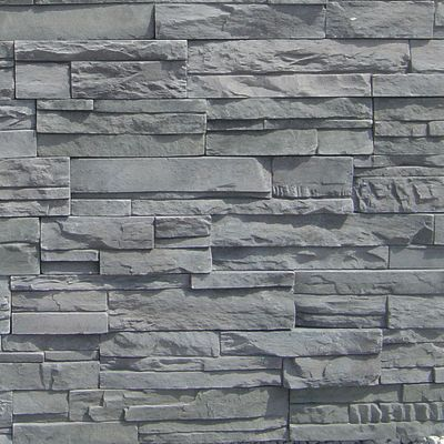 gray concrete Imperial Stack Graphite by veneerstone