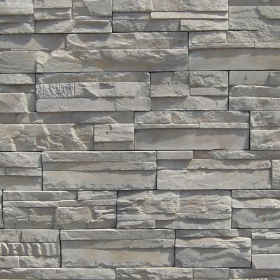 brown, gray, tan, white concrete Imperial Stack Pine Springs by veneerstone