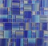 blue, beige glass Mariner 1X1 & 2X2 X 8 mm