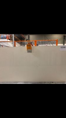 gray, white engineered Zodiaq Snow White Slab by zodiaq