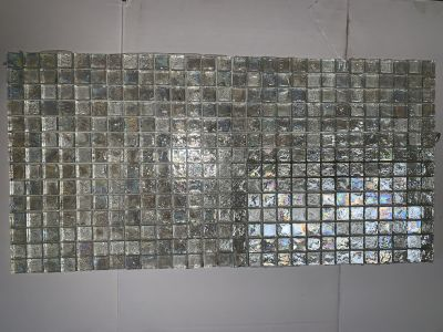 white glass GLASS MOSAIC by all sales are final