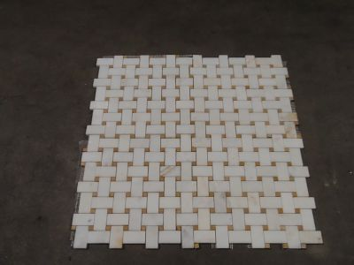 brown, gold, gray, orange, tan, white, yellow, beige stone 12x12 Afyon Sugar BWeave