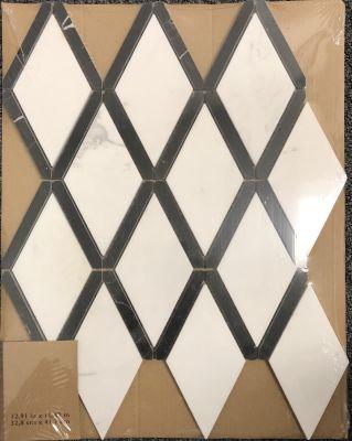 black, white marble White & Black Marble Diamond Mosaic