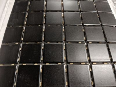 black porcelain Black 2x2 Matte Mosaic by anatolia