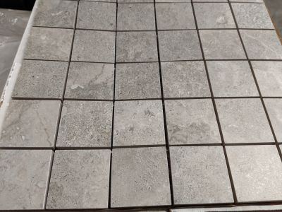 black, brown, gray, tan porcelain Stormio 2x2 Mosaic by anatolia
