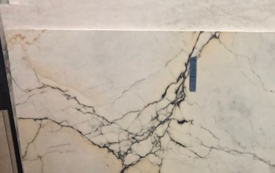 black, gold, white marble Calacatta Paonazza