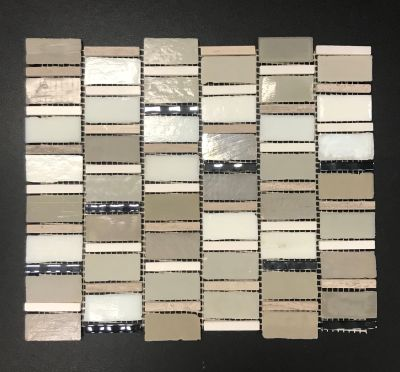 gray, tan, beige glass Bric-a-Brac by avenue mosaic