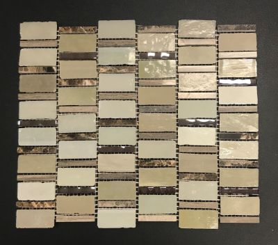 brown, gold, tan, beige glass Bric-a-Brac by avenue mosaic