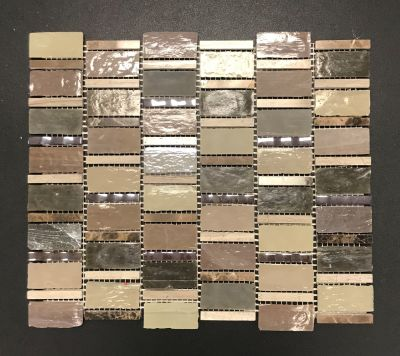 brown, gold, tan, beige, purple glass Bric-a-Brac by avenue mosaic