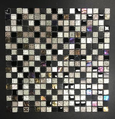 black, gold, gray, tan, white, beige, purple glass Maya by natural stone  tile