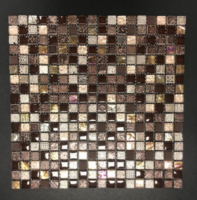 brown, gold, tan, beige glass Maya by natural stone  tile