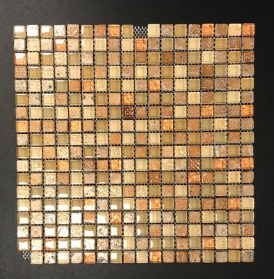 brown, gold, orange, tan, beige glass Maya by natural stone  tile