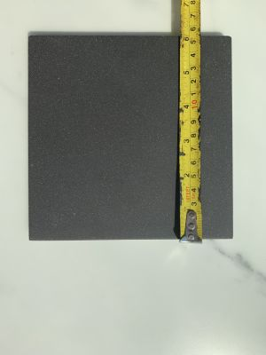 black quarry Unglazed Black Quarry Tile 6X6 by dal-tile corporation