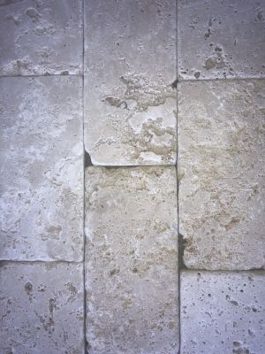 tan, white, beige travertine Rustic Tumbled Ivory  by anatolia