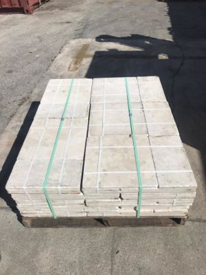 tan marble French Pattern Marble - Sold by pallet - 25 sets @ 8 sq ft per set - 200 sq fr per pallet