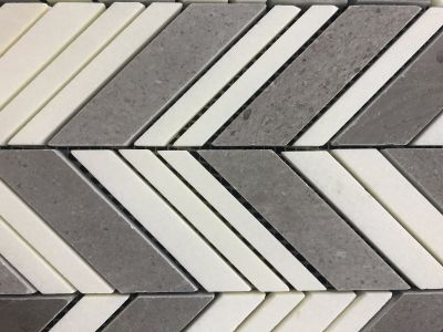 gray, tan, white, beige marble Lagos Chevron
