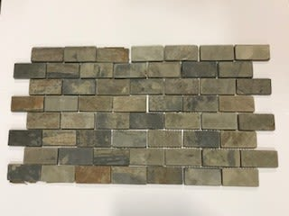 brown, gray slate S772 Autumn Mist Brick Joint Cleft by daltile